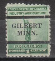 USA Precancel Vorausentwertung Preo, Locals Minnesota, Gilbert L-1 TS, Perf. Not Perfect - Vereinigte Staaten