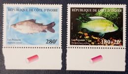 IVORY COAST COTE D'IVOIRE 1999 - SHORT SET 2/3 - FISHES FISH POISSONS POISSON MARINE LIFE FAUNA - MNH - Costa D'Avorio (1960-...)