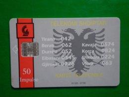 Télécarte Albanie, 07/96 20 000ex Utilisé Bon état, Traces - Albanien