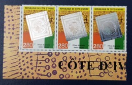 COTE D'IVOIRE IVORY COAST 1999 - 3 X - PHILEXAFRIQUE FIRST FRENCH STAMP TIMBRE FRANCAIS HOLOGRAM - MNH - Holograms