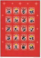 Feuille De Vignettes De Noël Des Iles Aland 2000 Neuve - Ålandinseln