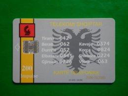 Télécarte Albanie, 04/96 23 400ex Utilisé Bon état, Traces - Albanien