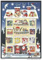 Feuille De Vignettes De Noël Des Iles Aland 1999 Neuve - Ålandinseln