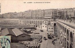 B61150 Cpa Alger - Le Boulevard Et Les Quais - Alger