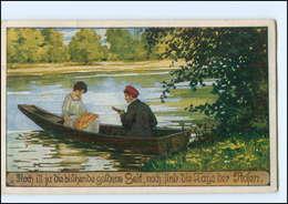 Y11510/ Verein Für Das Deutschtum Im Ausland  Volksliederkarte AK Ruderboot  - Postkaarten