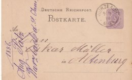 ALLEMAGNE 1886       ENTIER POSTAL/GANZSACHE/POSTAL STATIONERY CARTE  DE WÜRZBACH - Germania