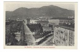 1178 - LA SPEZIA PANORAMA DAL FORTE DEI CAPPUCCINI ANIMATA TRAM  1940 CIRCA - La Spezia
