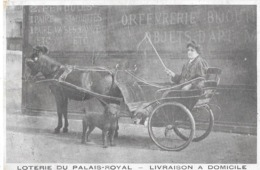 PARIS - LOTERIE DU PALAIS-ROYAL - Livraison à Domicile (attelage) - France