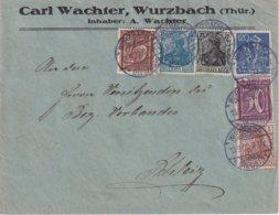 ALLEMAGNE 1922 LETTRE DE WURZBACH - Storia Postale