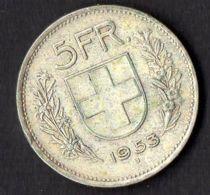 SUISSE :  MONNAIE  D ARGENT  5  FRANCS  1953 , A  SAISIR . - Suisse