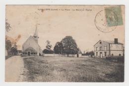 BA464 - AUVILLIERS - La Place - La Mairie Et L'Eglise - RARE - France