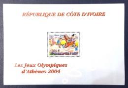 IVORY COAST COTE D'IVOIRE 2004 BLOC BLOCK MICHEL Mi A36 SHEET - OLYMPIC GAMES ATHENS JEUX OLYMPIQUES COURSE- RARE MNH - Costa D'Avorio (1960-...)