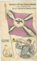 Militaria; Drapeau Du 132e Régiment D'Infanterie Allemande. Pris De Haute Lutte - Non Voyagé. - France