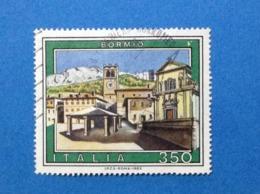 1985 ITALIA TURISTICA TURISMO BORMIO FRANCOBOLLO USATO STAMP USED - 6. 1946-.. Repubblica