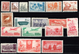China , Michel# 3 Steckkarten O/(*) - 1949 - ... People's Republic