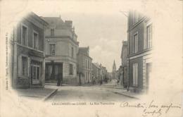 CPA 49 Maine Et Loire Chalonnes Sur Loire La Rue Traversière - Chalonnes Sur Loire