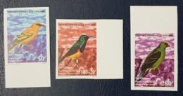 COTE D'IVOIRE IVORY COAST 1999 SHORT SET 3/4 - IMPERF NON DENTELE ND - OISEAUX BIRDS - MNH - Costa D'Avorio (1960-...)