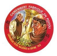 ETIQUETTE De FROMAGE..CAMEMBERT Fabriqué En POITOU.. Vieux Frère..CAPRIBEUR à MAZI7RES En GATINE (79)..MOINE - Fromage