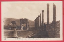 CPA-DJEMILA - Arc De Cracalla Et Portique Sur Le Forum - Phototypie Albert * SUP ** 2 SCANS - Algeria
