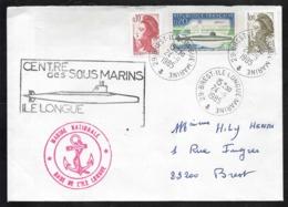 FRANCE 1615 Sous Marin Redoutable Avec Cachets Ile Longue Marine Nationale - Francia