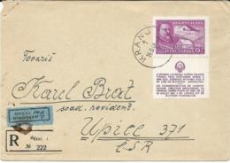 Yugoslavia,Slovenia,Czechoslovakia,Avio, Kranj Via Upice - Czech Republic 1948 - 1945-1992 Socialist Federal Republic Of Yugoslavia
