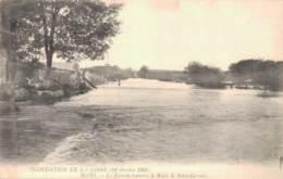 41 INONDATION DE LA LOIRE 1907 BLOIS LE TORRENT TRAVERSE LA ROUTE DE SAINT GERVAIS  PAS CIRCULEE - Blois