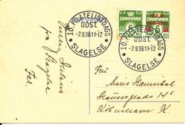 Denmark Letter Card D.F.U. Stamp Exhibition Slagelse 2-9-1938 - 1913-47 (Christian X)