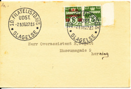 Denmark Letter Card FDC With D.F.U. Stamp Exhibition Slagelse 2-9-1938 - 1913-47 (Christian X)