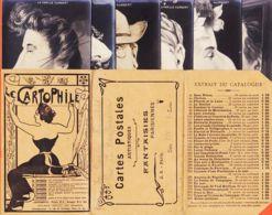 Nw000 Rare Pochette CARTOPHILE 6 Carte-Photo Famille HUMBERT Par PEKAN 1900s RAPHAEL TUCK  Série 243 Satirique Justice - Satirisch