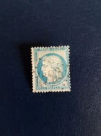 N°60 B,  25 Cts Bleu , GC 4583, Montmartin Sur Mer, Manche. - Marcophilie (Timbres Détachés)