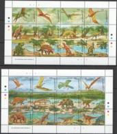 D400 GUYANA FAUNA PREHISTORIC ANIMALS DINOSAURS !!! 2SH MNH - Briefmarken