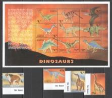 D401 ANTIGUA & BARBUDA FAUNA PREHISTORIC ANIMALS DINOSAURS 1SH+1SET MNH - Briefmarken