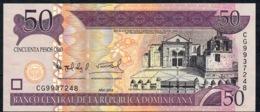 DOMINICAN REPUBLIC NLP Like P176  50 PESOS 2008 #CG New Variety PRINTER  Oberthur Technologies UNC. - Dominicana