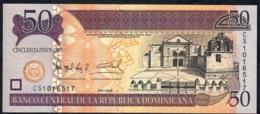 DOMINICAN REPUBLIC P176b  50 PESOS 2008 #CS  New Type For 2008 (T)dlR  UNC. - Dominicana
