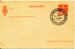 Denmark Postal Stationery Lettercard With Special Postmark Kugleposten 4-7-1935 (Naestved - Koebenhavn) - 1913-47 (Christian X)