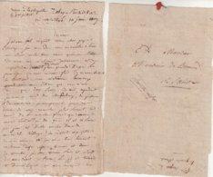 """FRANCE : MP . """" 5 ème CORPS DE LA GRANDE ARMEE EN ALLEMAGNE ET EN POLOGNE """" A SEC . ( ILLISIBLE ) . 1807 . - Marcofilia (sobres)"""