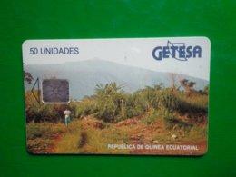 Télécarte Guinée-Equatoriale, 50 Unidades Utilisé Traces - Aequatorial-Guinea