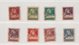 Suisse. 8 Timbres Oblitérés. Guillaume Tell.  1914-1930. Etat Moyen. - Other