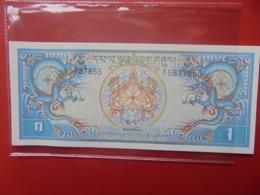 BHUTAN 1 NGULTRUM 1986-90 PEU CIRCULER/NEUF (B.9) - Bhoutan