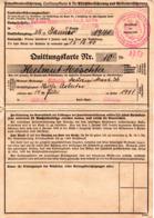 """(Kart-ZD) Invalidenversicherung... """"Quittungskarte A Für Pflichtversicherung..."""" Ausgestellt Görlitz 25.Jan.1941 - Documents Historiques"""