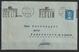 Auslandsbrief Mit MiNr 393 (EF) Mit Werbestempel BERLIN 5.4.28 Nach Emmenbrück (Schweiz) An Den Künstler Hans Emmenegger - Briefe U. Dokumente