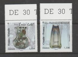 FRANCE / 2018 / Y&T N° 5275/5276 ** : France-Croatie (Gallé & Krasnik) X 1 Paire BdF Haut - Gomme D'origine Intacte - Francia