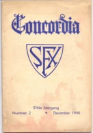 Brochure Tijdschrift Concordia - School En Missie Revue SFX - Brugge 1946 - Zonder Classificatie