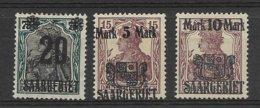 Saargebiet Opdrukzegels MI 50/52, X - 1920-35 Saargebiet – Abstimmungsgebiet