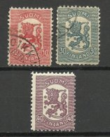 FINNLAND FINLAND 1918 Michel 96 - 97 O + Michel 98 MNH - Finland