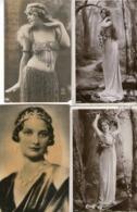 Lot De 10 CPA - BEAUX  PORTRAITS FEMMES - Artistes - DOLL -BREVILLE - ALICE COMES.. - Vrouwen