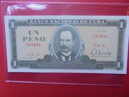 CUBA 1 PESO 1982 PEU CIRCULER/NEUF (B.9) - Cuba