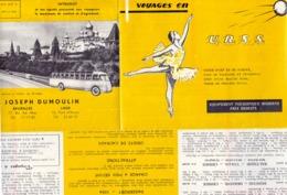 Brochure Dépliant Faltblatt Toerisme Tourisme - Voyages En U.R.S.S. - Voyages Joseph Dumoulin - Dépliants Touristiques