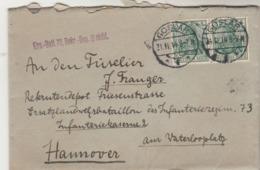 Allemagne Lettre Cachet GOSLAR 21/11/1914 à Hannover - Allemagne