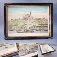 ~ CADRE LITHOGRAPHIE TROCADERO EXPOSITION UNIVERSELLE PARIS 1878 - Monument Architecture - Steendruk